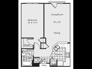 A2A Floor Plan at Reserve at Lavista Walk, 1155 Lavista Walk NE, GA 30324
