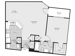 A3 Floor Plan at Reserve at Lavista Walk, 1155 Lavista Walk NE, Atlanta