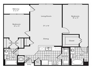 B1 Floor Plan at Reserve at Lavista Walk, 1155 Lavista Walk NE, Atlanta