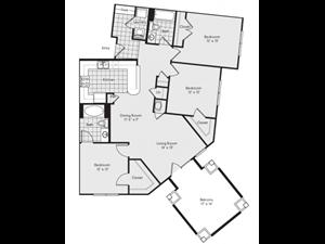 C2 Floor Plan at Reserve at Lavista Walk, 1155 Lavista Walk NE, GA 30324