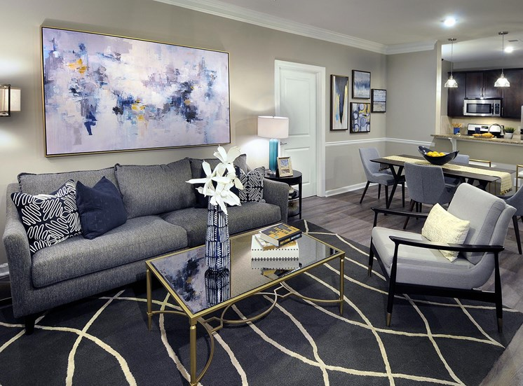 Living Room Area at Reserve at Lavista Walk, Atlanta, Georgia