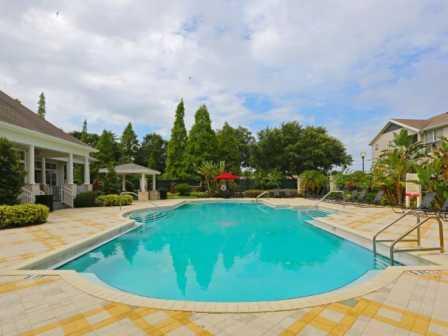 Pool Side Relaxing Area at RiverTree, 5959 Bandera Spring Circle, Florida