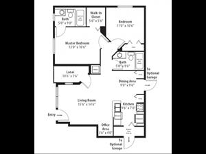 Floor plan at RiverTree, 5959 Bandera Spring Circle, Riverview, FL 33578