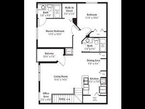 Floor plan at RiverTree, 5959 Bandera Spring Circle, Riverview, Florida