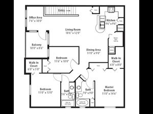 Floor plan at RiverTree, 5959 Bandera Spring Circle, Florida