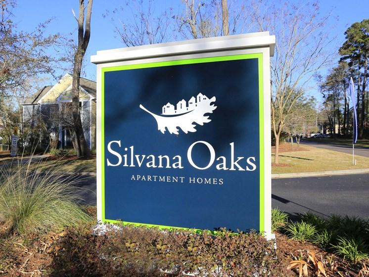 Silvana Oaks entrance sign.