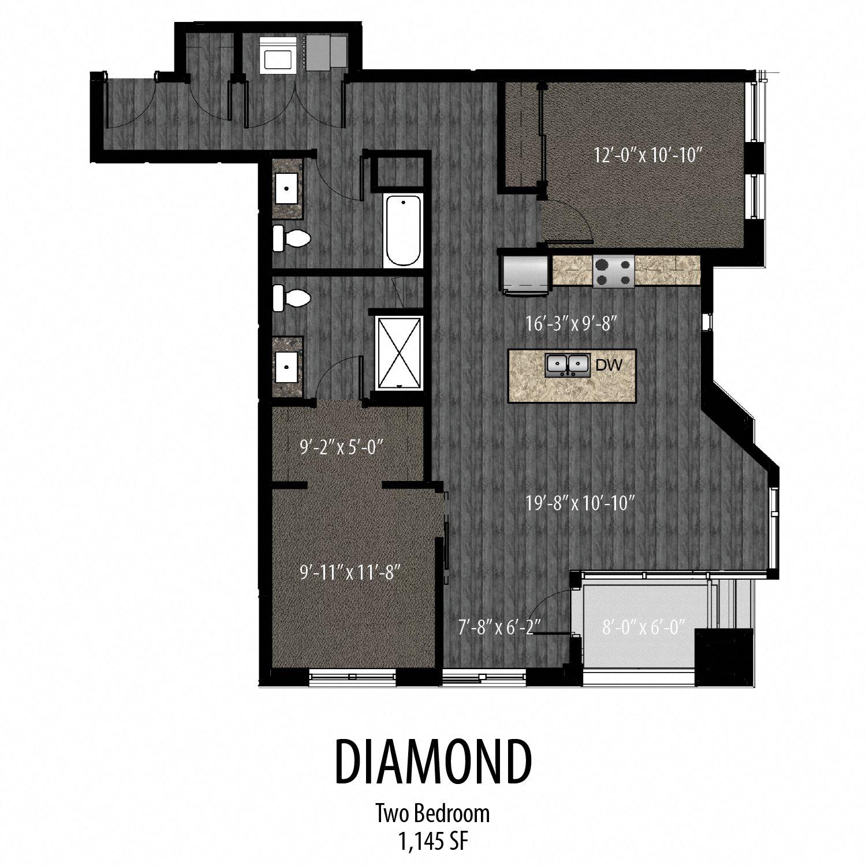 Diamond Floor Plan 3