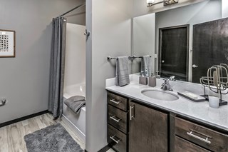 Quartz Bathroom Counter Tops at Capitol District, Omaha, NE,68102