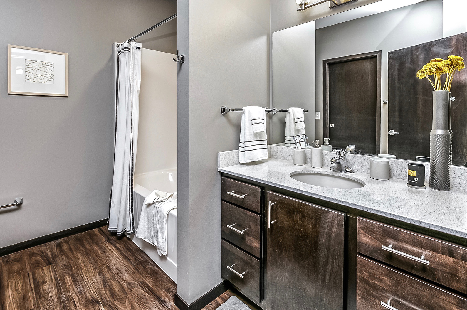 Solid Cultured Marble Bathroom Counter Tops at Capitol District, Omaha, NE,68102