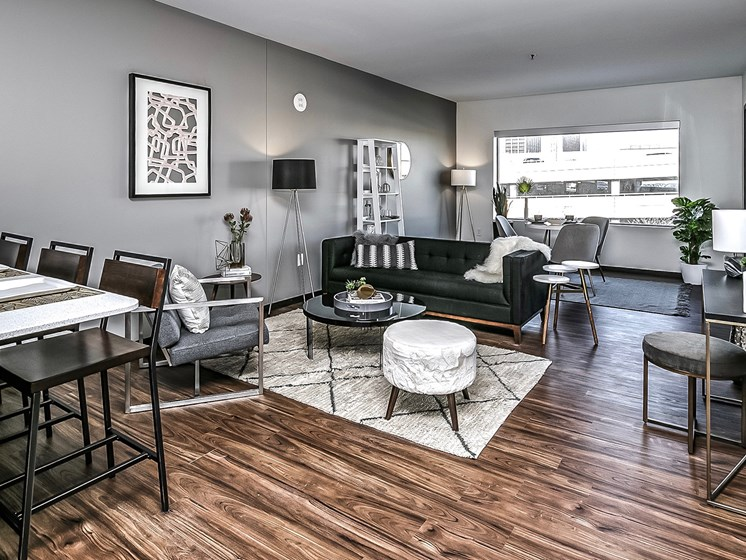 Apartments Equipped With High Ceilings and Hardwood Floors at Capitol District, Omaha, 68102