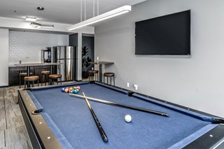 Lounge with Billiards at at Capitol District, Omaha, 68102