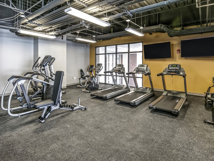 fitness studio at Capitol District, Omaha, 68102