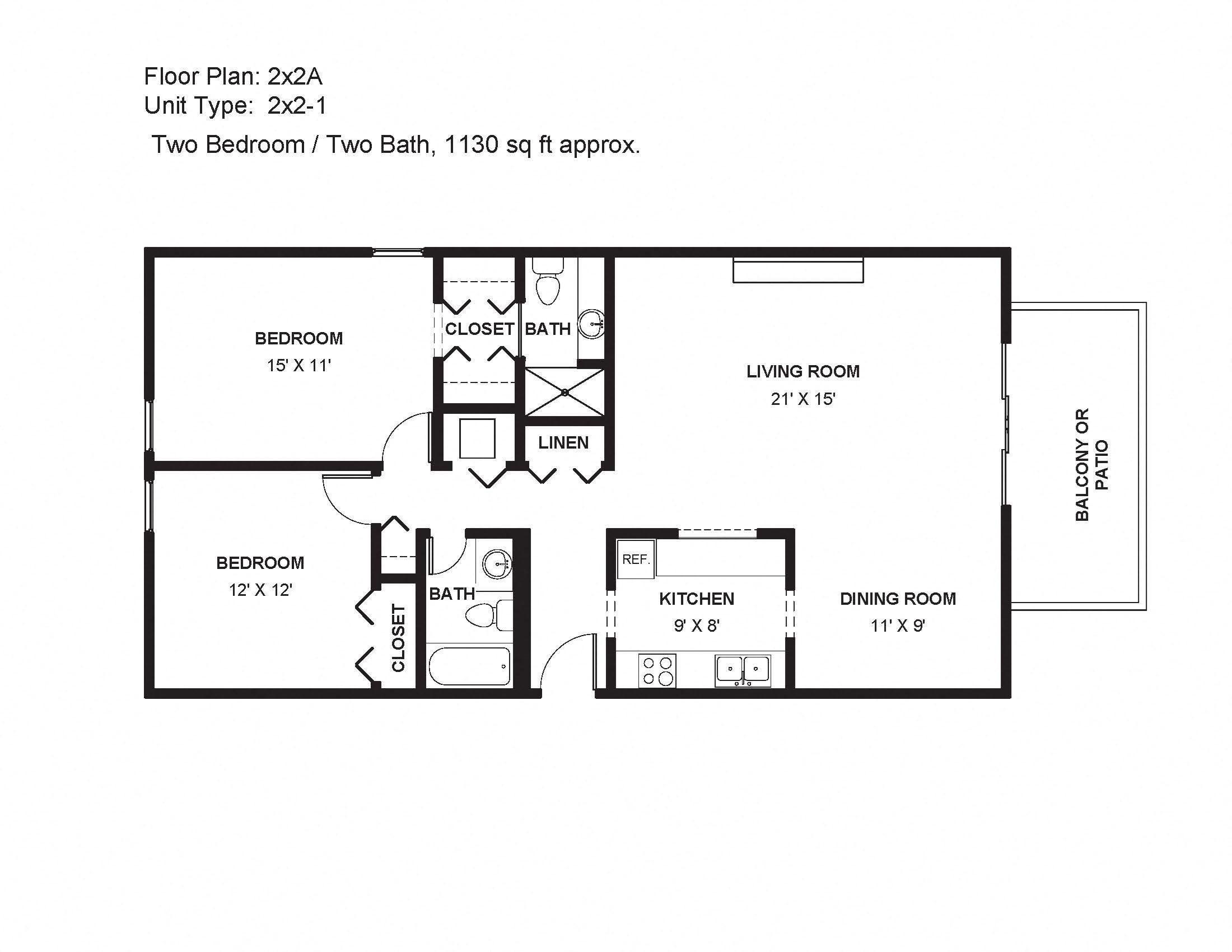 2x2A Floor Plan 7