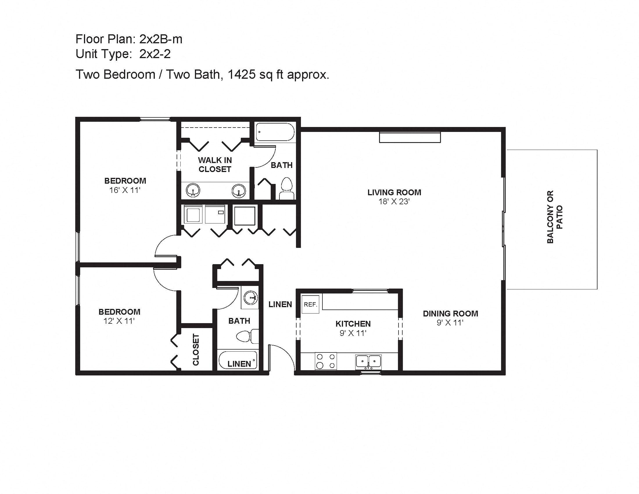 2x2B-m Floor Plan 10