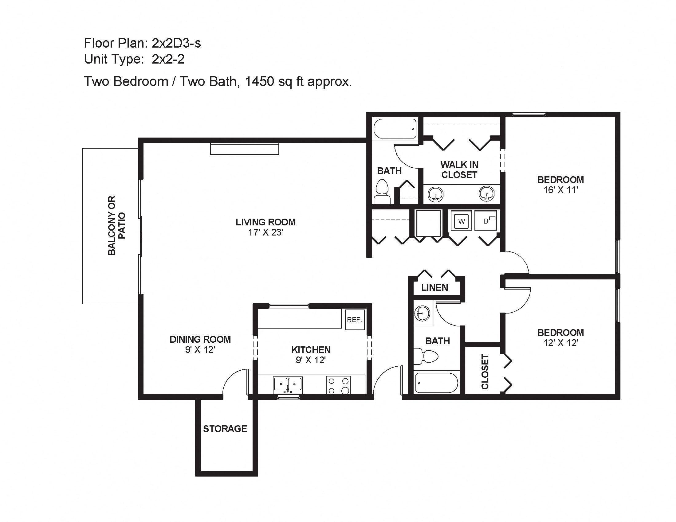 2x2D3-s Floor Plan 9