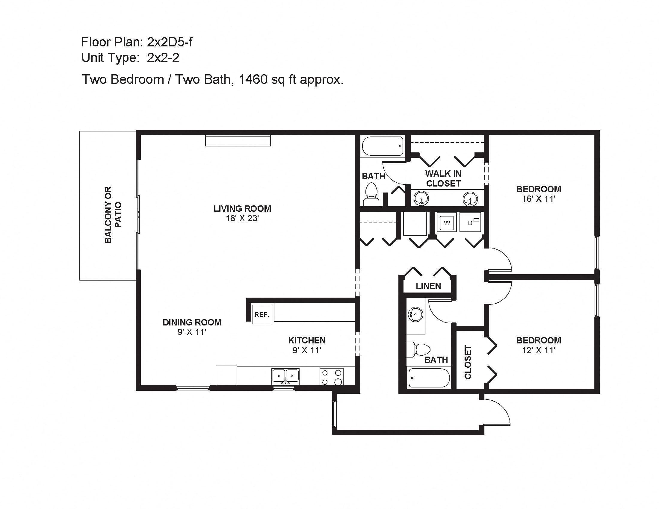 2x2D5-f Floor Plan 18