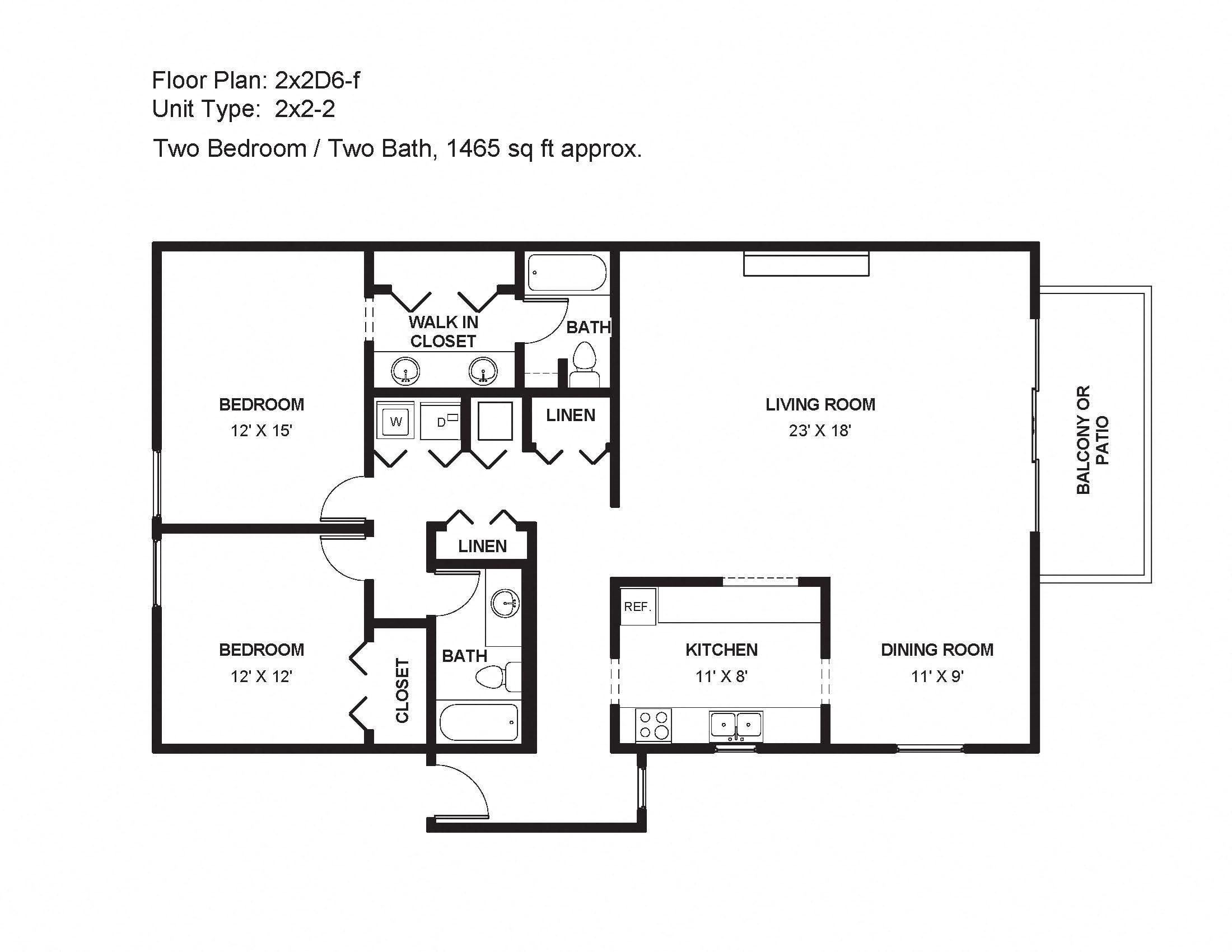2x2D6-f Floor Plan 21
