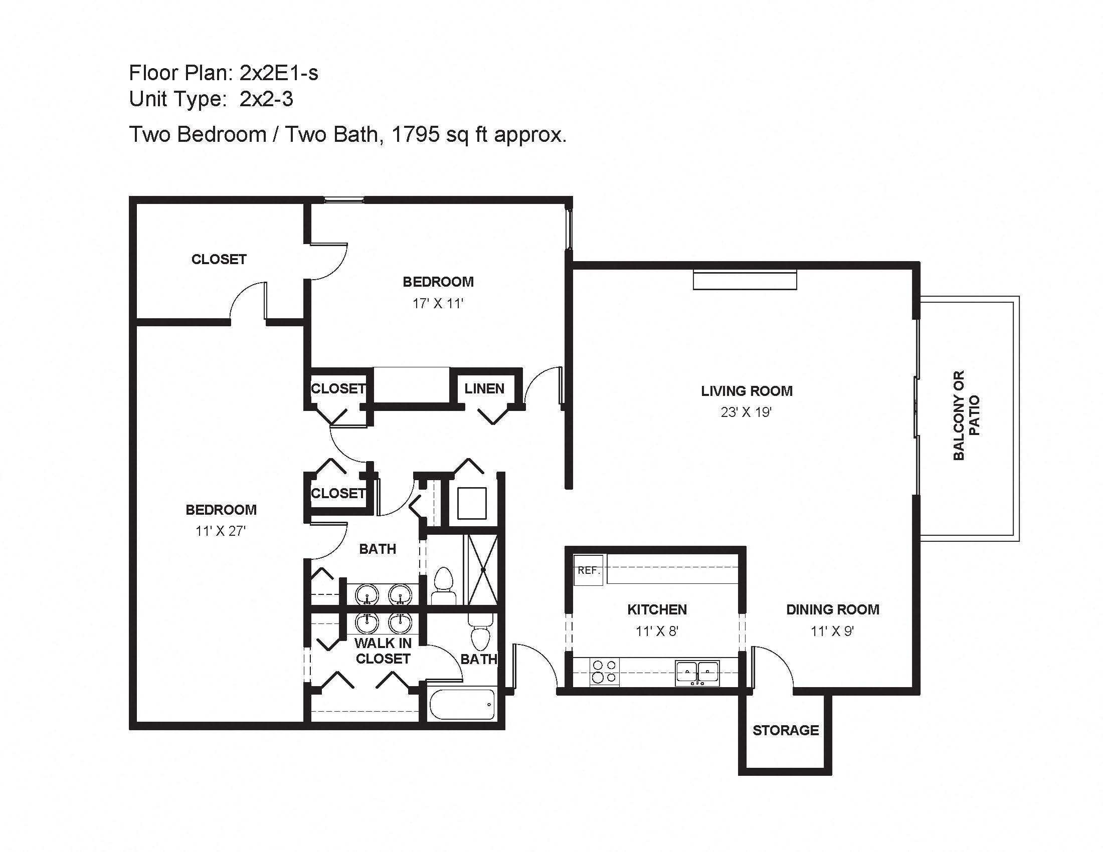 2x2E1-s Floor Plan 28