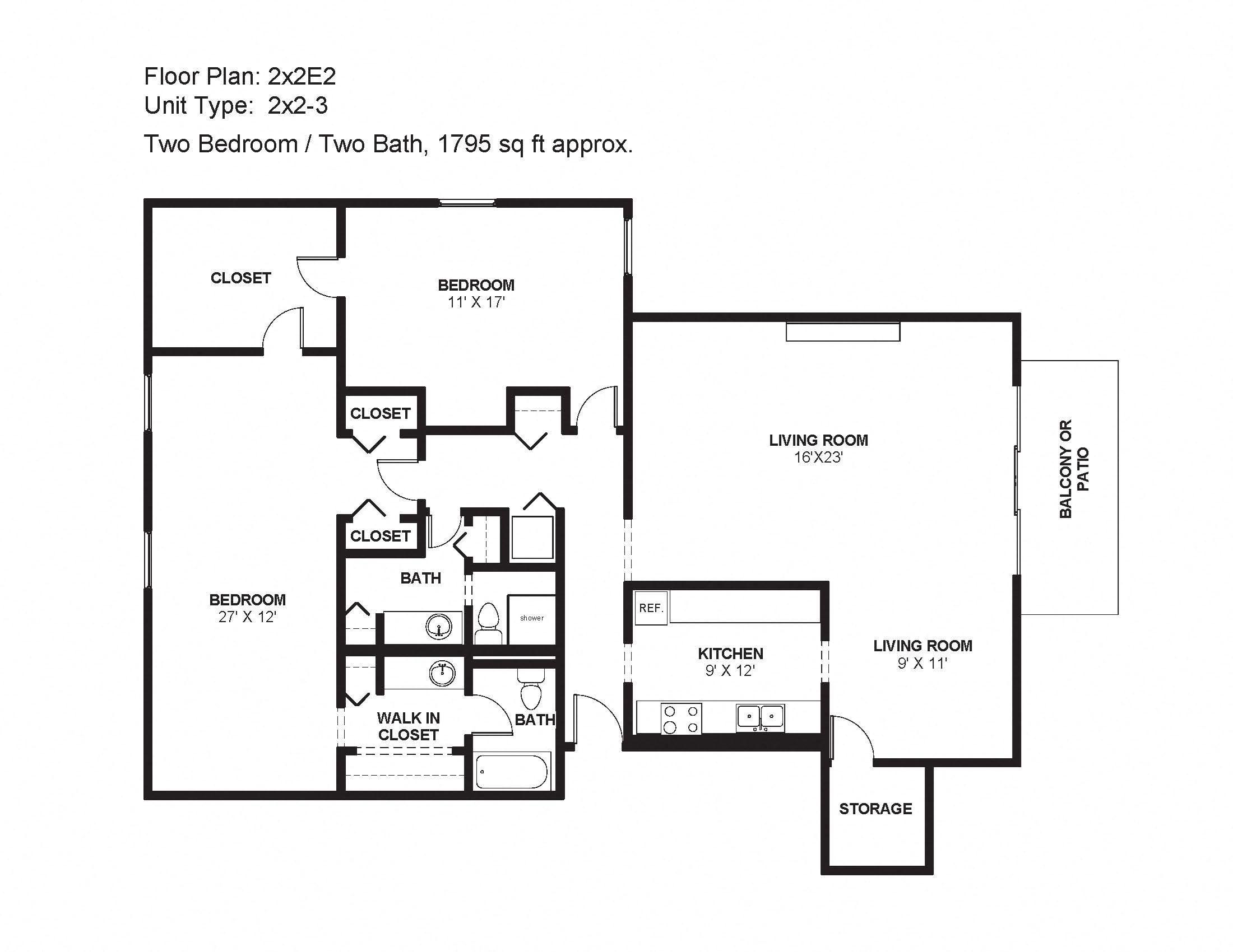 2x2E2 Floor Plan 29
