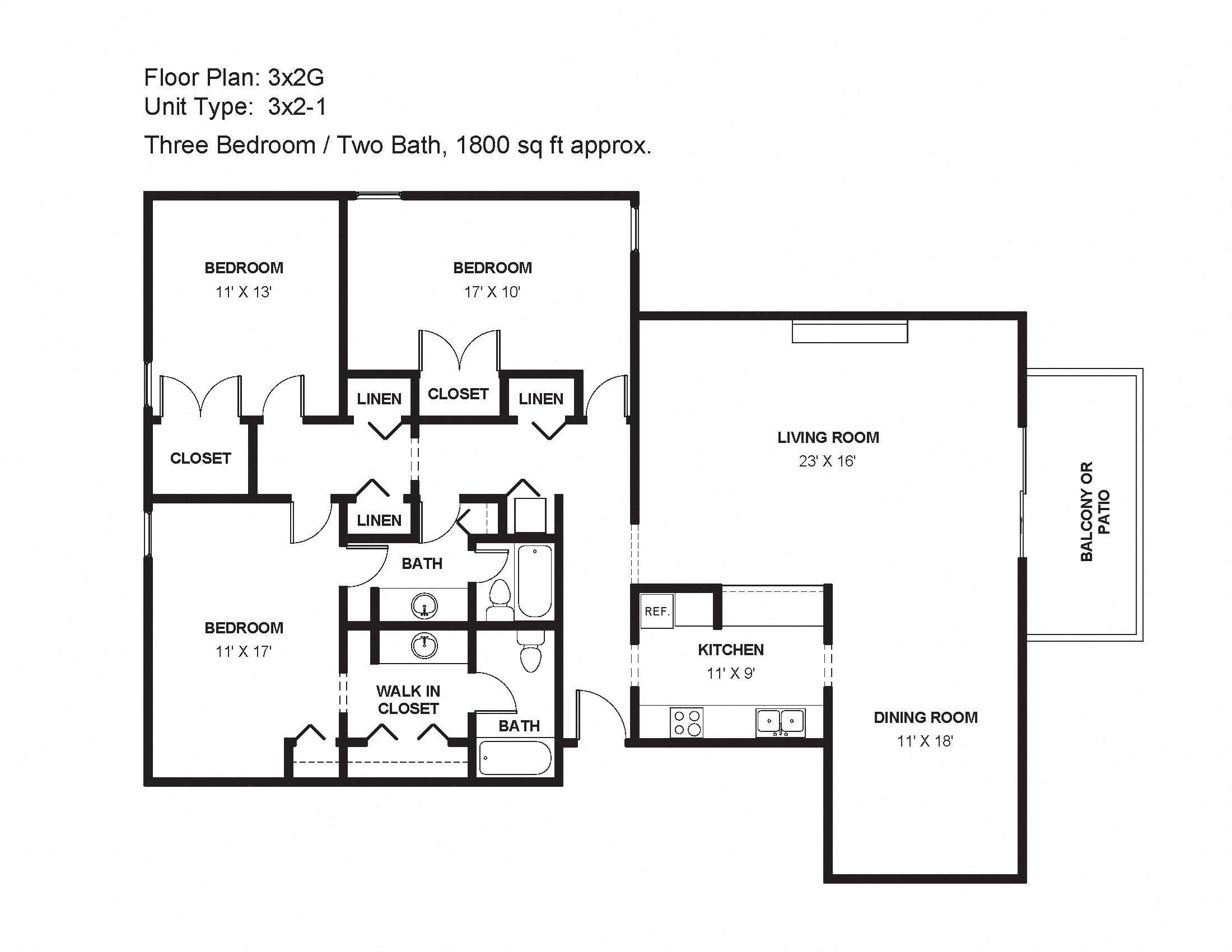 3x2G Floor Plan 34