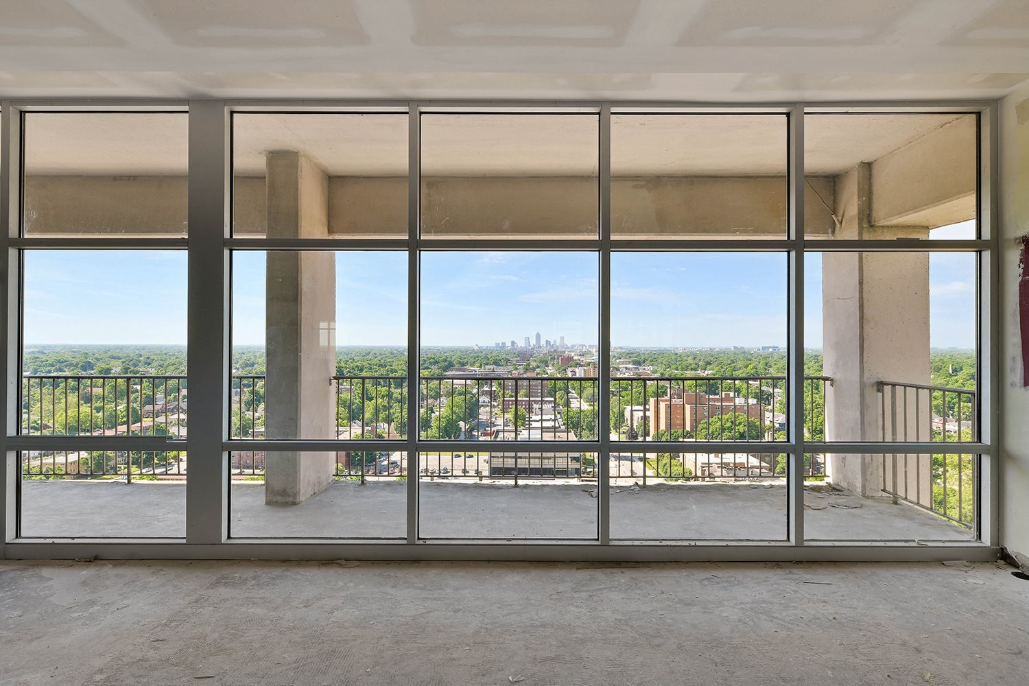 Expansive Private Balconies at CityView on Meridian, Indiana