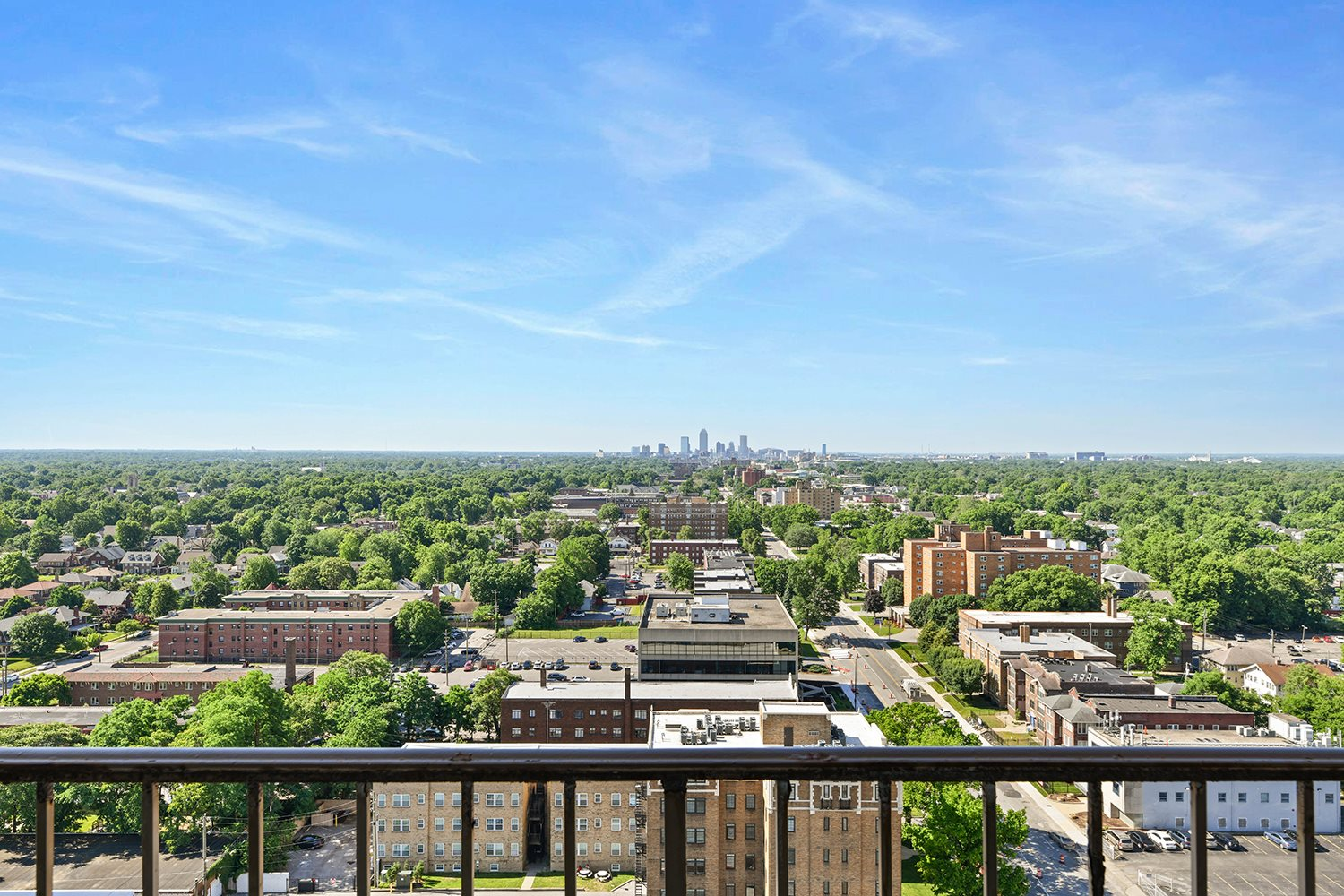 Picturesque Views From Apartment Balcony at CityView on Meridian, Indiana, 46208