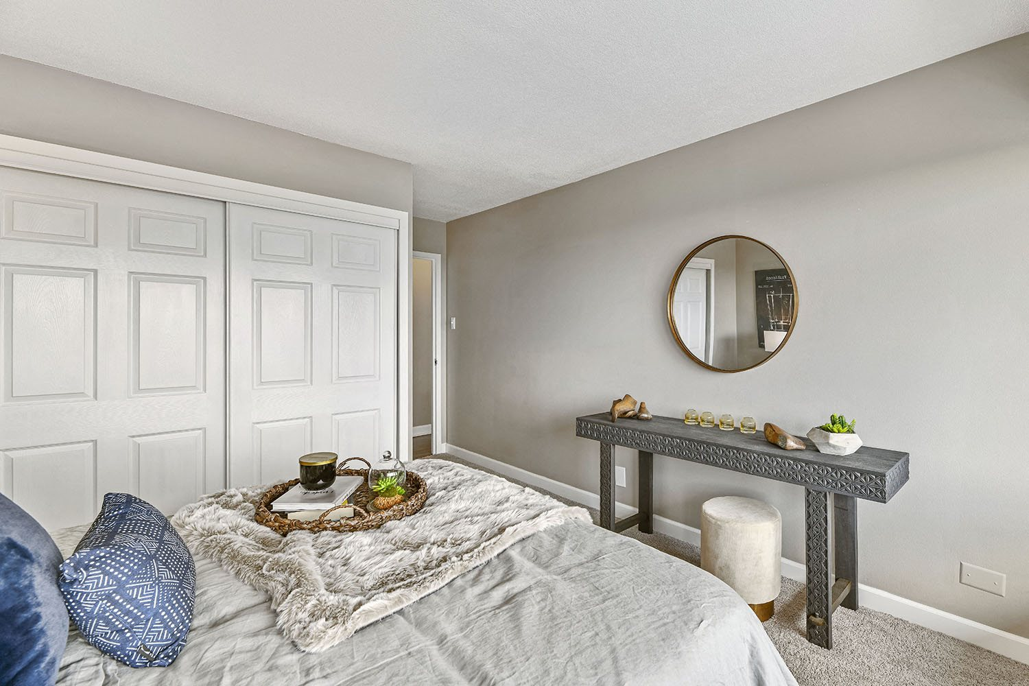 Bedroom with Large Closet at CityView on Meridian, Indiana,46208