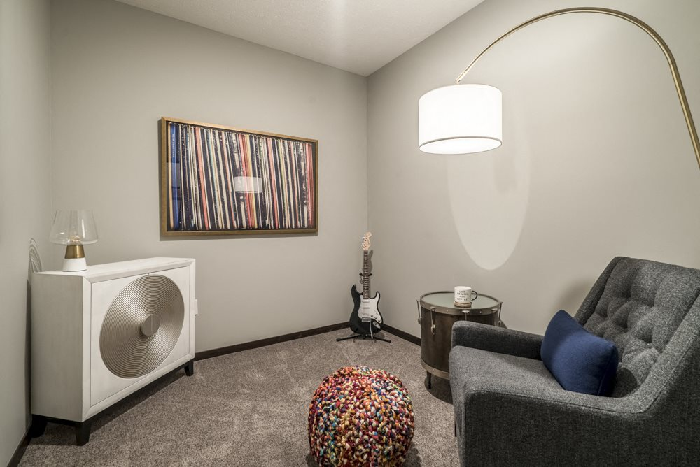 Den in 1 bedroom apartment for rent at The Conrad in the blackstone district in Omaha NE