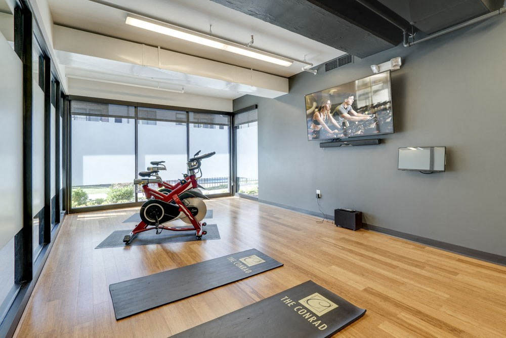 Yoga/spin studio at The Conrad near UNMC in the Blackstone District Omaha NE 68105