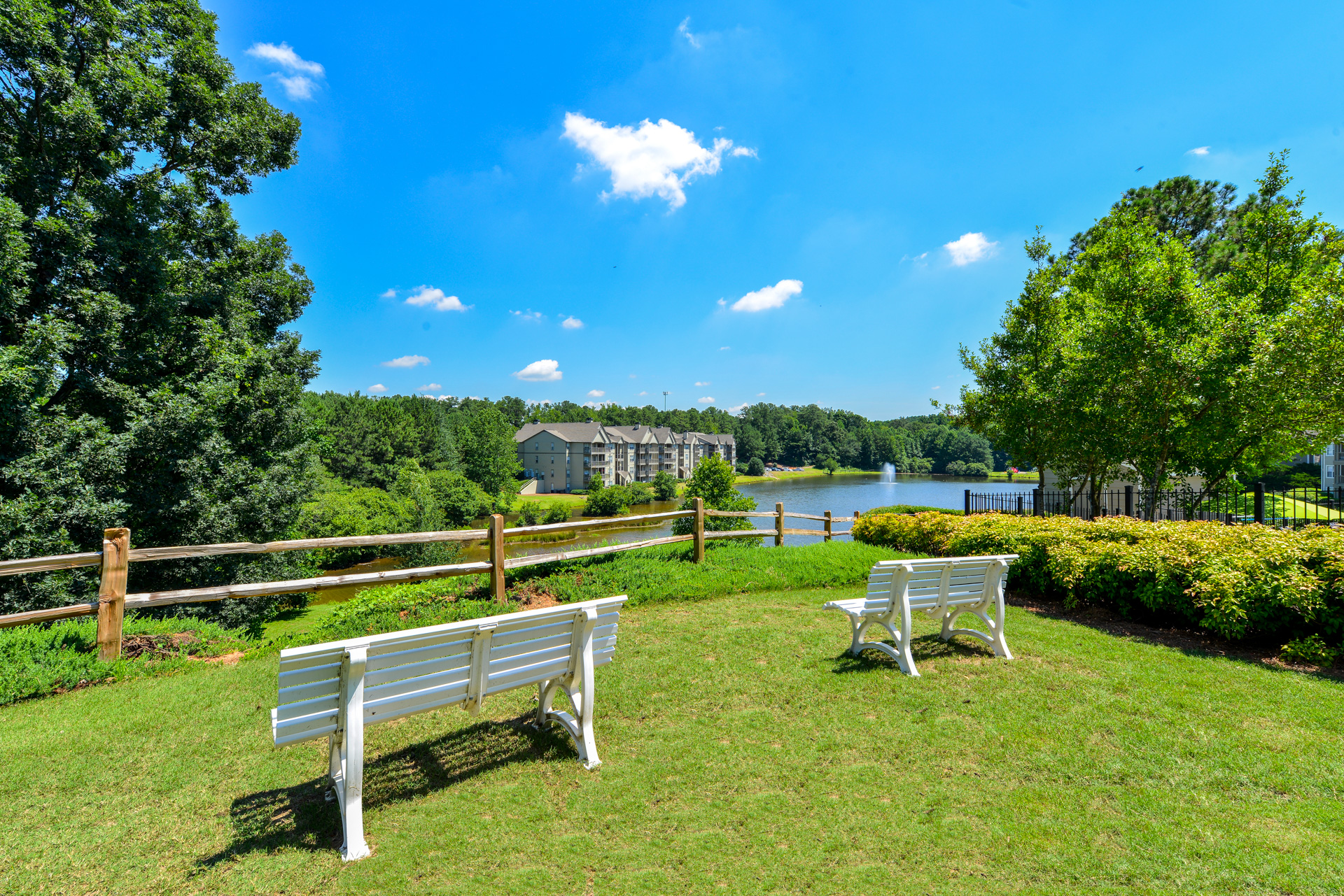 Beautiful Panoramic View Of The Six Acre Lake At Lakeside At Arbor Place  Apartments In