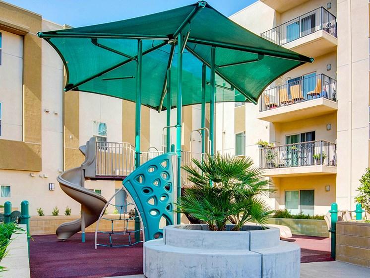 Playground area-Santa Cecilia Apartments, Los Angeles CA