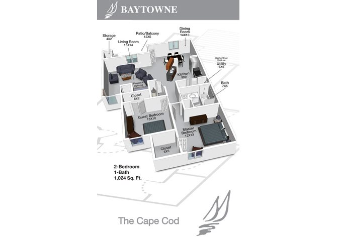 Cape Cod I Floor Plan 1