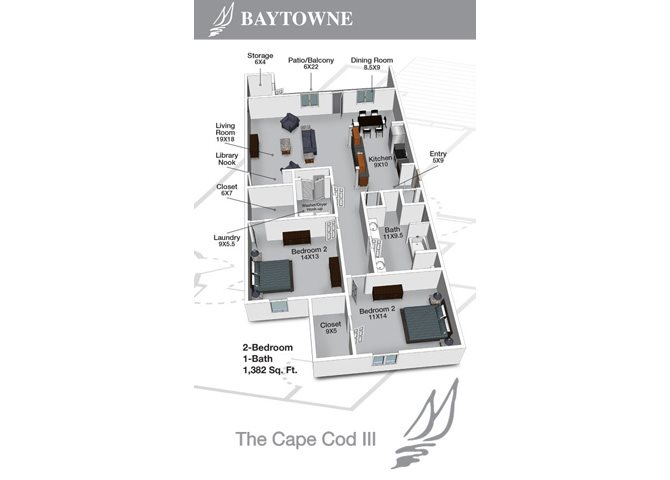 Cape Cod III Floor Plan 2
