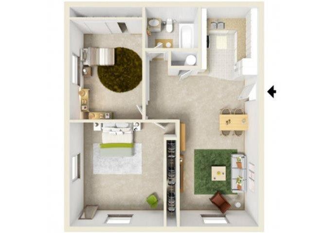 Two Bedroom 2nd Floor Floor Plan 6