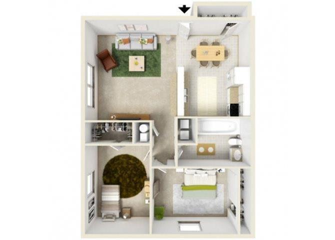 Two Bedroom 2nd Floor Williamsburg Floor Plan 8