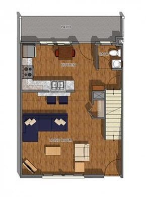 2 Bedroom 2.25 Bathroom-A