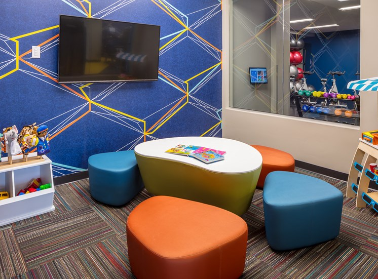 Kids playroom in the fitness center