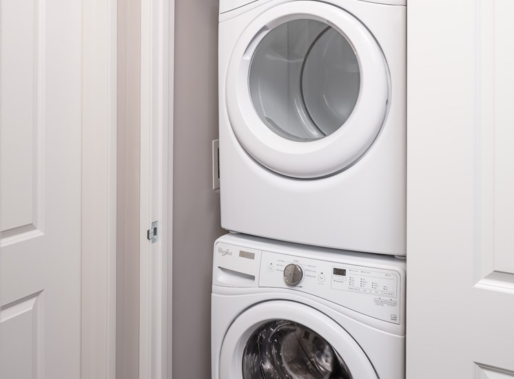Full sized stackable washer and dryer