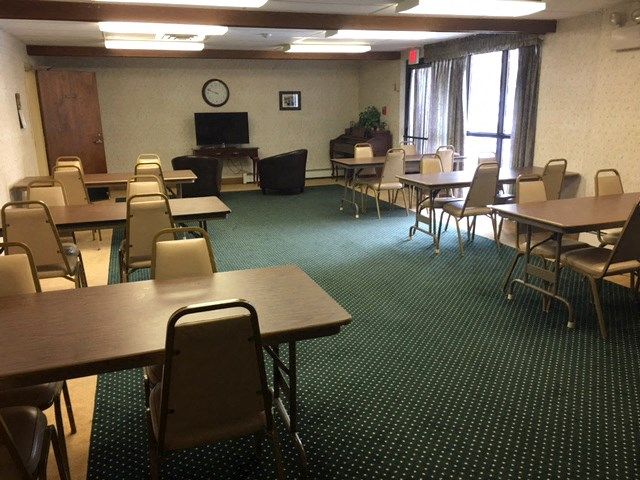 Community room at Franklin Square Manor in New Britain, CT