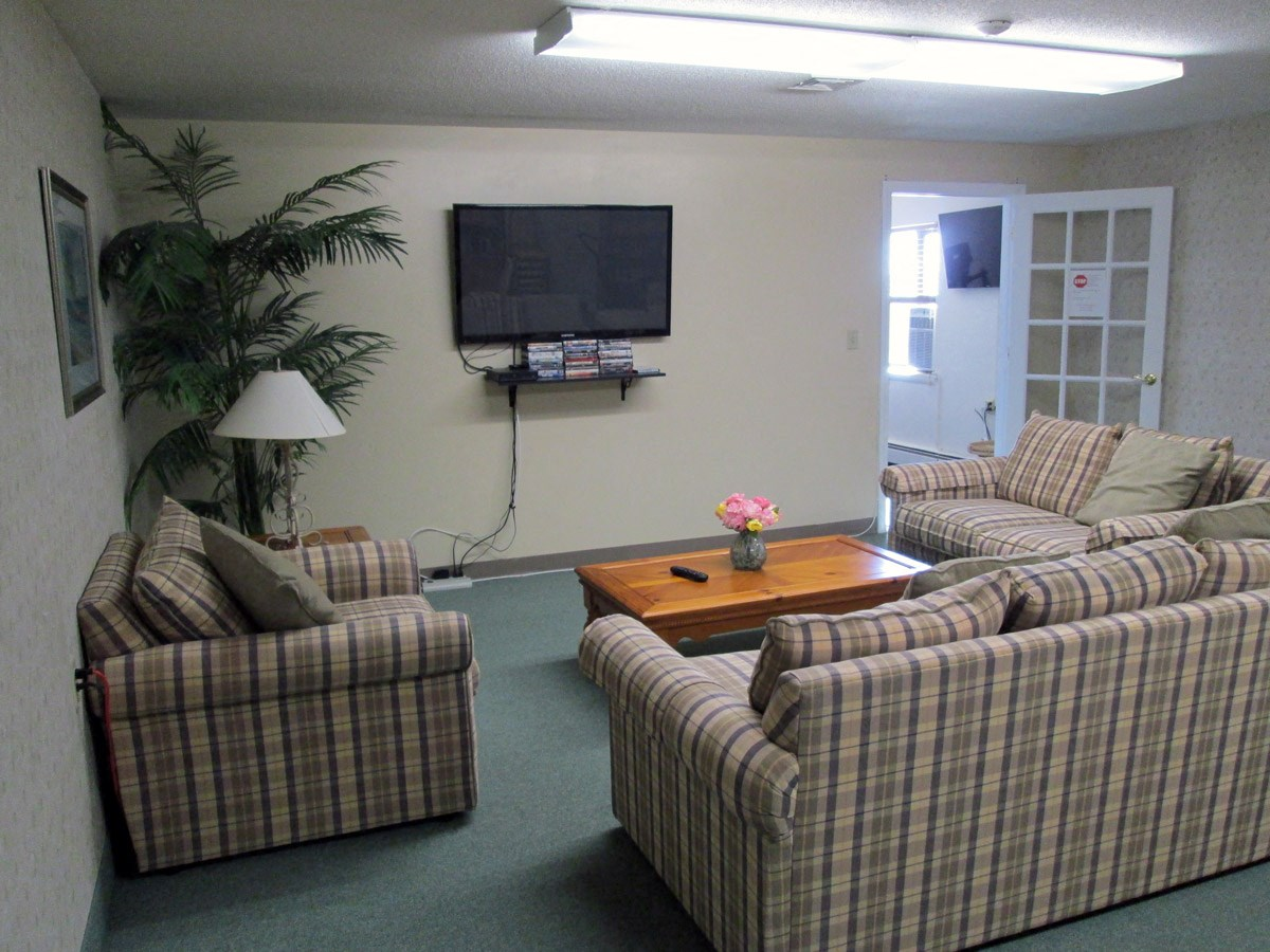 Media Room at Franklin Square Manor Apartments in New Britain, CT