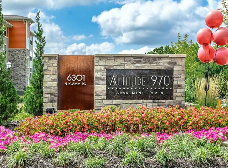 Monument Sign at Altitude 970, Missouri