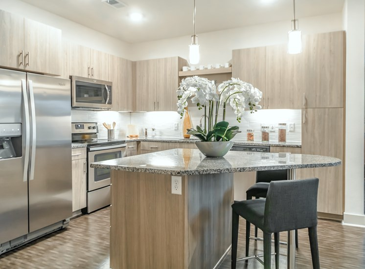 Kitchen With High Quality Countertops at Altitude 970, Kansas City, MO, 64151
