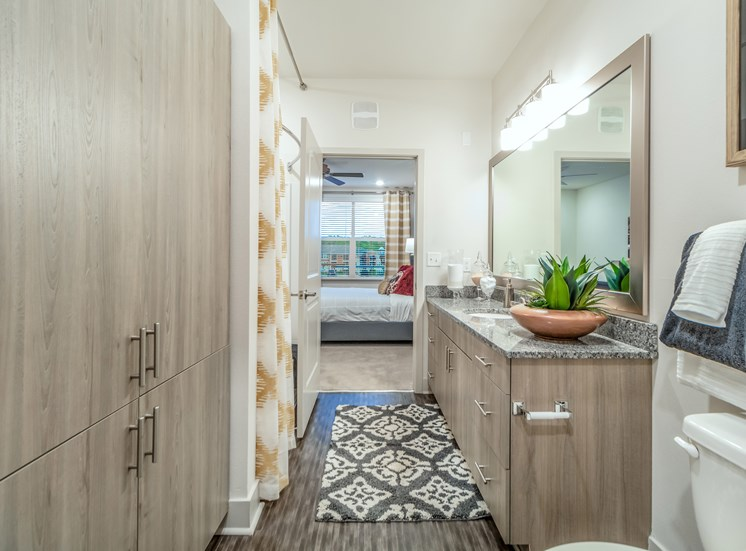 Bathroom With Lot Of Storage Space at Altitude 970, Kansas City, MO