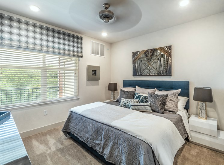 Bedroom With Ceiling Fan at Altitude 970, Kansas City