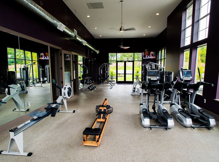 Fitness Center With Updated Equipment at Altitude 970, Kansas City, 64151