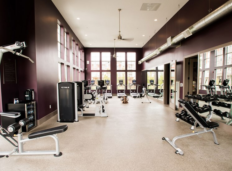 Modern Fitness Center at Altitude 970, Kansas City