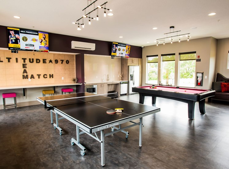 Game Room With Pool Table at Altitude 970, Missouri