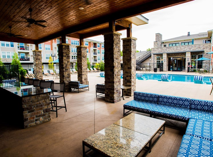 Pool Cabana & Outdoor Entertainment Bar at Altitude 970, Kansas City, Missouri