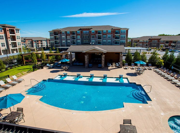 Turquoise Swimming Pool at Altitude 970, Kansas City, MO