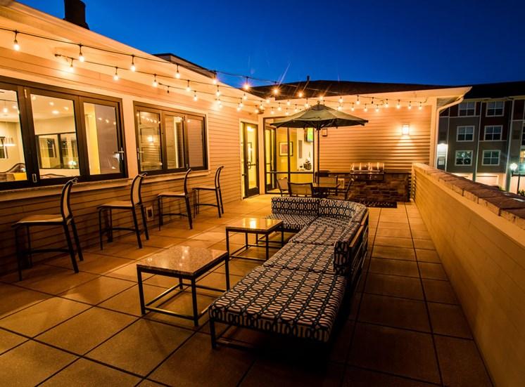 Posh Rooftop Lounge Area at Altitude 970, Kansas City, MO, 64151